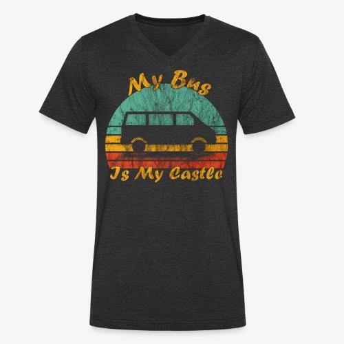 My Bus Is My Castle (Washed) - Männer Bio-T-Shirt mit V-Ausschnitt von Stanley & Stella