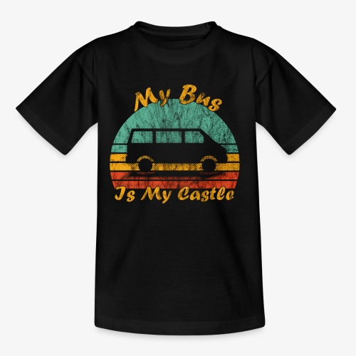 My Bus Is My Castle (Washed) - Kinder T-Shirt