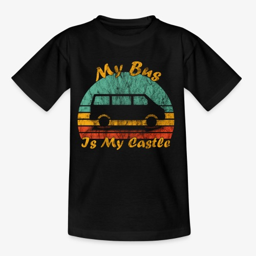 My Bus Is My Castle (Washed) - Teenager T-Shirt