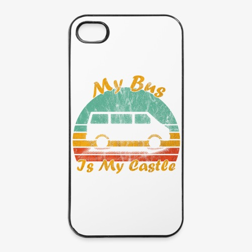 My Bus Is My Castle (Washed) - iPhone 4/4s Hard Case