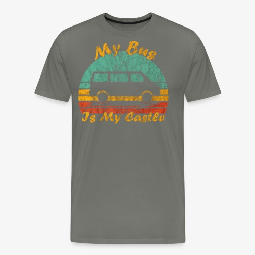 My Bus Is My Castle (Washed) - Männer Premium T-Shirt