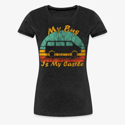 My Bus Is My Castle (Washed) - Frauen Premium T-Shirt