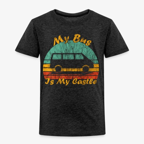 My Bus Is My Castle (Washed) - Kinder Premium T-Shirt