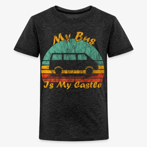 My Bus Is My Castle (Washed) - Teenager Premium T-Shirt