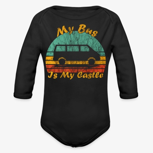 My Bus Is My Castle (Washed) - Baby Bio-Langarm-Body