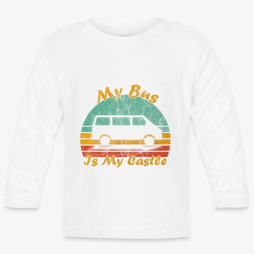 My Bus Is My Castle (Washed) - Baby Langarmshirt