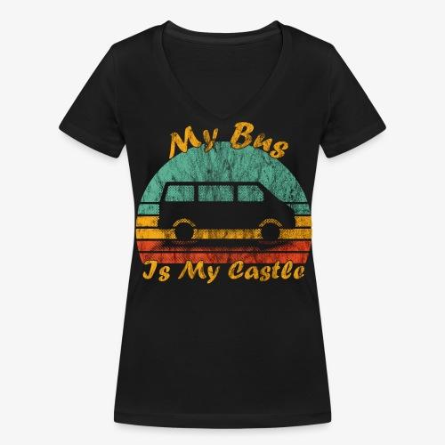 My Bus Is My Castle (Washed) - Frauen Bio-T-Shirt mit V-Ausschnitt von Stanley & Stella