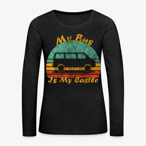 My Bus Is My Castle (Washed) - Frauen Premium Langarmshirt