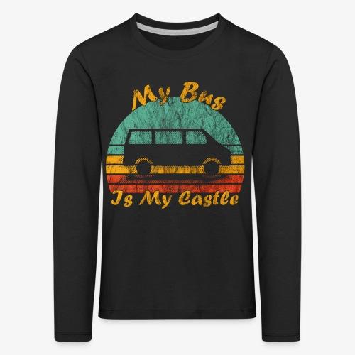 My Bus Is My Castle (Washed) - Kinder Premium Langarmshirt