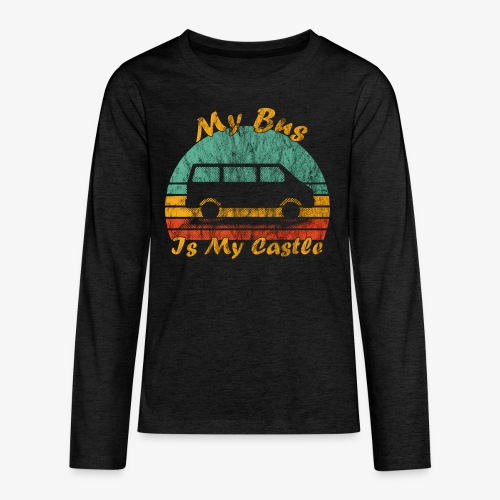 My Bus Is My Castle (Washed) - Teenager Premium Langarmshirt