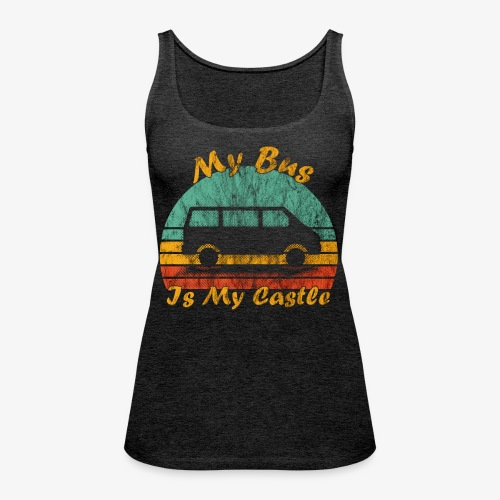 My Bus Is My Castle (Washed) - Frauen Premium Tank Top