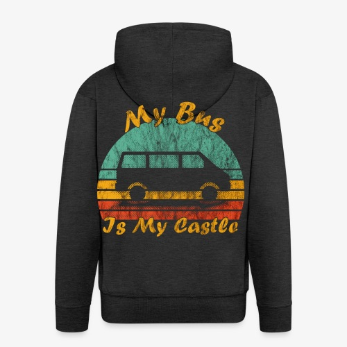 My Bus Is My Castle (Washed) - Männer Premium Kapuzenjacke