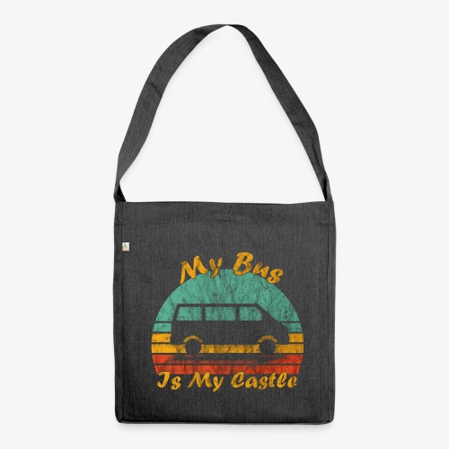My Bus Is My Castle (Washed) - Schultertasche aus Recycling-Material