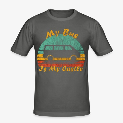 My Bus Is My Castle (Washed) - Männer Slim Fit T-Shirt