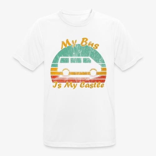 My Bus Is My Castle (Washed) - Männer T-Shirt atmungsaktiv