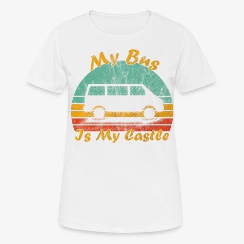 My Bus Is My Castle (Washed) - Frauen T-Shirt atmungsaktiv