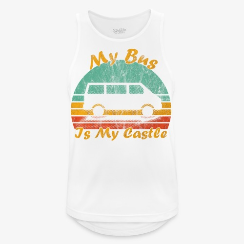 My Bus Is My Castle (Washed) - Männer Tank Top atmungsaktiv
