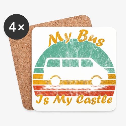 My Bus Is My Castle (Washed) - Untersetzer (4er-Set)