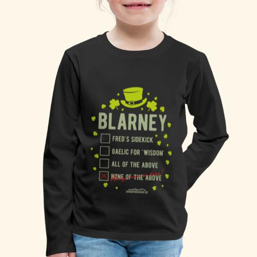 St. Patrick's Day T Shirt Blarney Pub quiz - Kinder Premium Langarmshirt