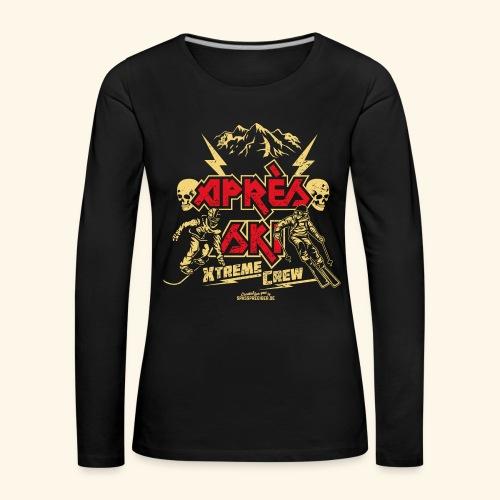 Apres Ski T Shirt Apres Ski Xtreme Crew - Frauen Premium Langarmshirt