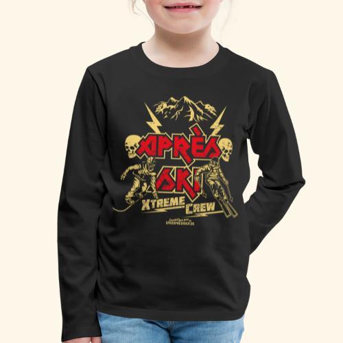 Apres Ski T Shirt Apres Ski Xtreme Crew - Kinder Premium Langarmshirt
