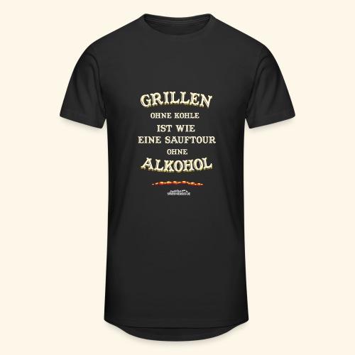 Grill T Shirt Spruch Grillen ohne Kohle ist wie eine Sauftour - Männer Urban Longshirt