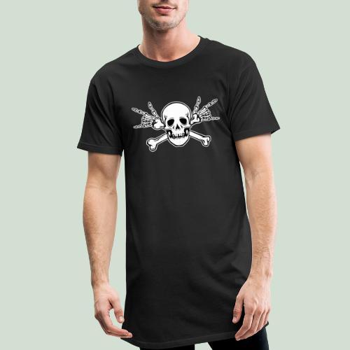 Deaf Skull with ILY Handsign - Männer Urban Longshirt