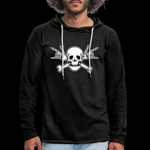 Deaf Skull with ILY Handsign - Leichtes Kapuzensweatshirt Unisex
