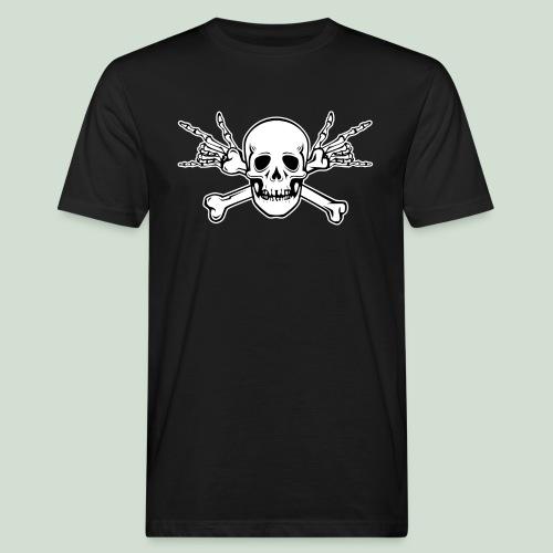 Deaf Skull with ILY Handsign - Männer Bio-T-Shirt