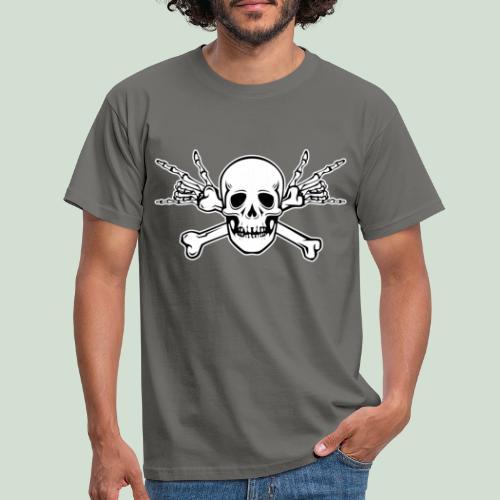 Deaf Skull with ILY Handsign - Männer T-Shirt