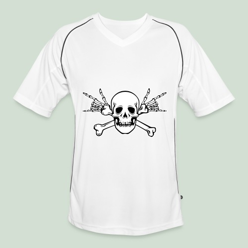 Deaf Skull with ILY Handsign - Männer Fußball-Trikot