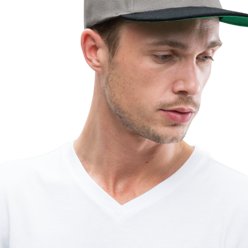 Deaf Skull with ILY Handsign - Snapback Cap