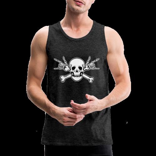 Deaf Skull with ILY Handsign - Männer Premium Tank Top