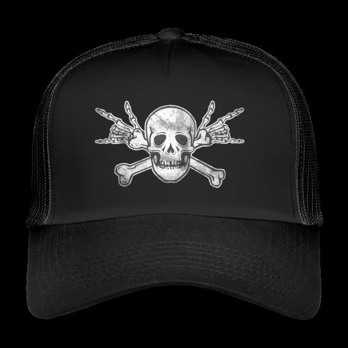 Deaf Skull with ILY Handsign Vintage - Trucker Cap