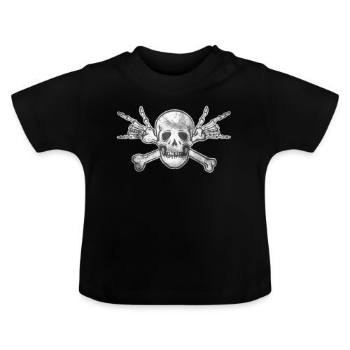 Deaf Skull with ILY Handsign Vintage - Baby T-Shirt