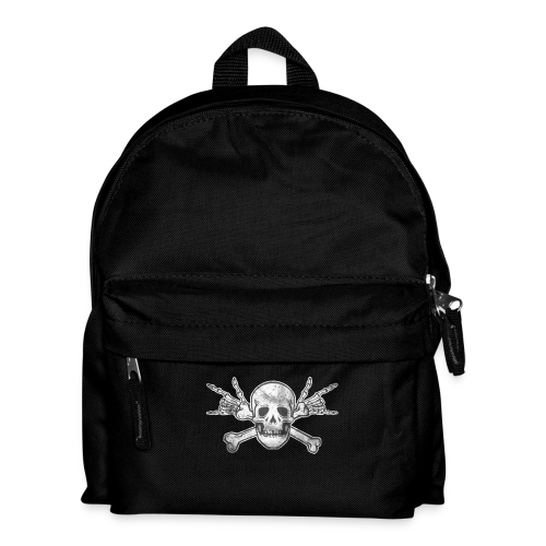 Deaf Skull with ILY Handsign Vintage - Kinder Rucksack