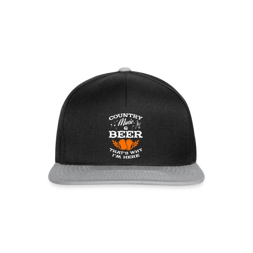 Country musik and beer - Snapback Cap