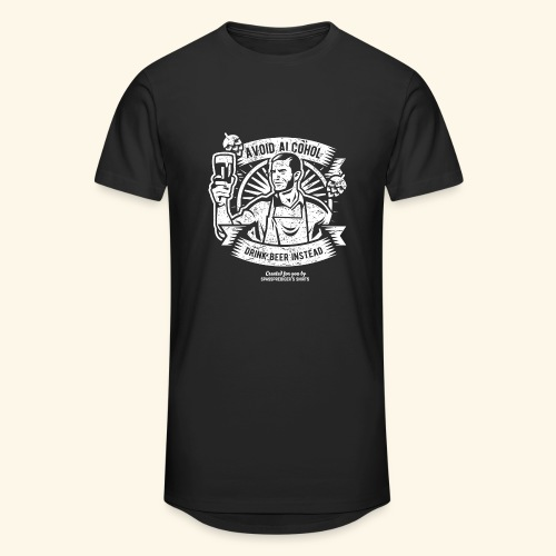 Bier T Shirt Avoid Alcohol Drink Beer Instead | witziger Spruch - Männer Urban Longshirt
