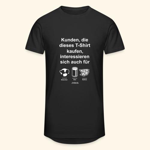 Karneval T Shirt Düsseldorf | Bier, Bützchen & Co. - Männer Urban Longshirt