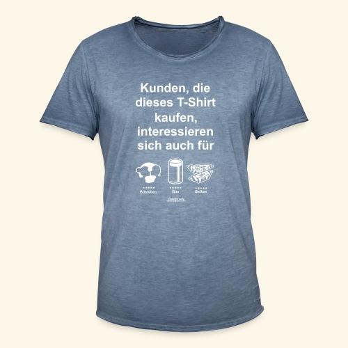 Karneval T Shirt Düsseldorf | Bier, Bützchen & Co. - Männer Vintage T-Shirt