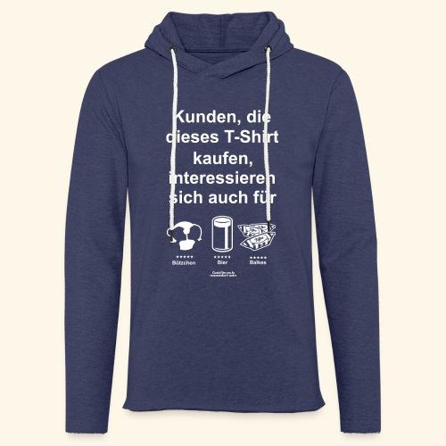 Karneval T Shirt Düsseldorf | Bier, Bützchen & Co. - Leichtes Kapuzensweatshirt Unisex