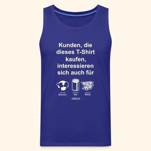 Karneval T Shirt Düsseldorf | Bier, Bützchen & Co. - Männer Premium Tank Top