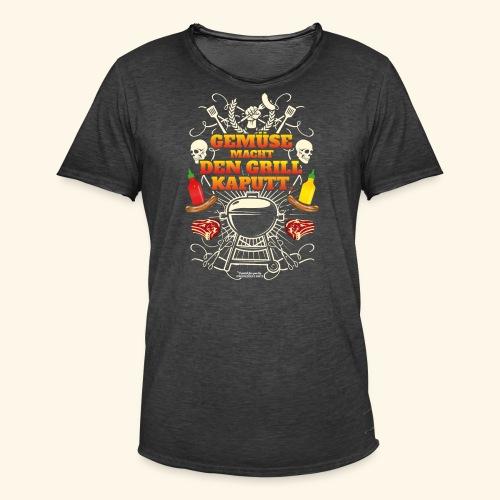 Grill T Shirt mit witzigem Spruch - Männer Vintage T-Shirt