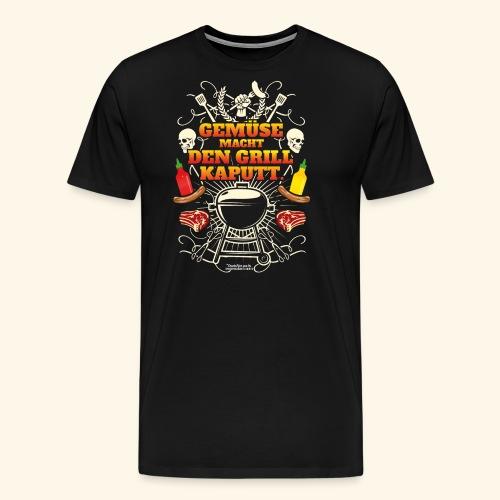 Grill T Shirt mit witzigem Spruch - Männer Premium T-Shirt
