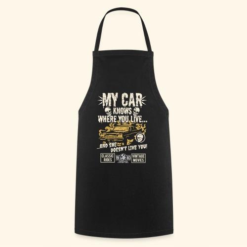 Horror Film Fan T Shirt My Car Knows - Kochschürze