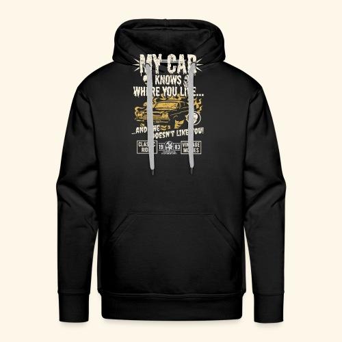 Horror Film Fan T Shirt My Car Knows - Männer Premium Hoodie