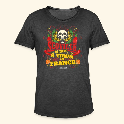 Chili T Shirt Scoville Is Not A Town In France - Männer Vintage T-Shirt