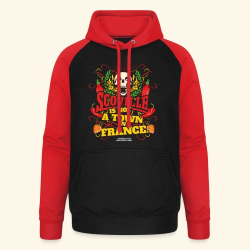 Chili T Shirt Scoville Is Not A Town In France - Unisex Baseball Hoodie