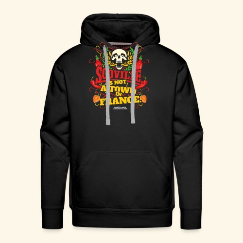 Chili T Shirt Scoville Is Not A Town In France - Männer Premium Hoodie
