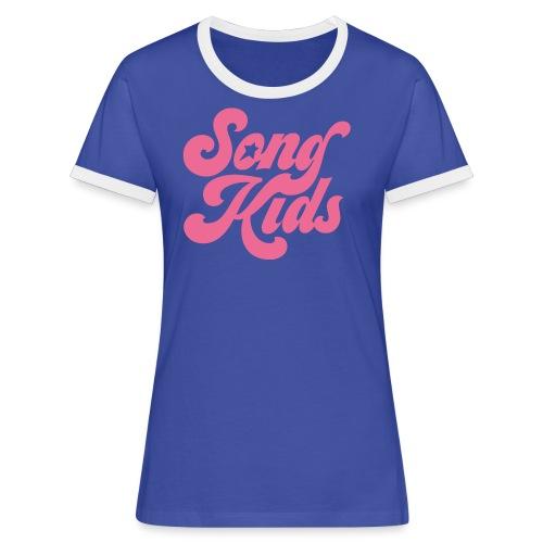 Songkids – tanktopp - Kontrast-T-shirt dam